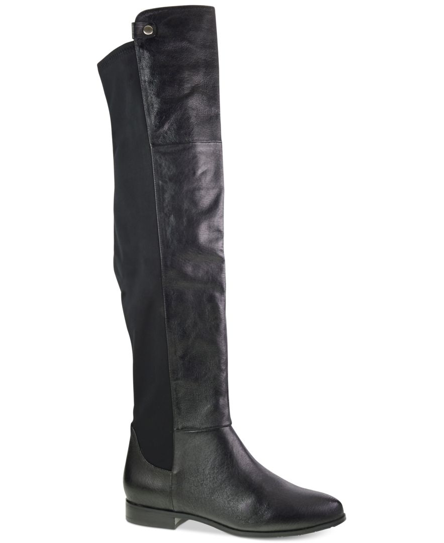 Chinese Laundry Robin Over The Knee Pull On Boots In Black