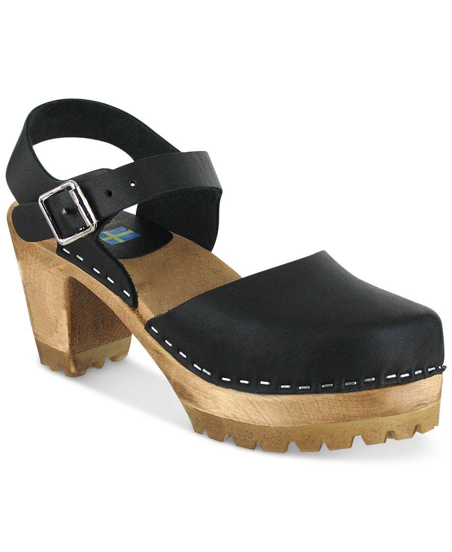 Wooden Heel Shoe Boots