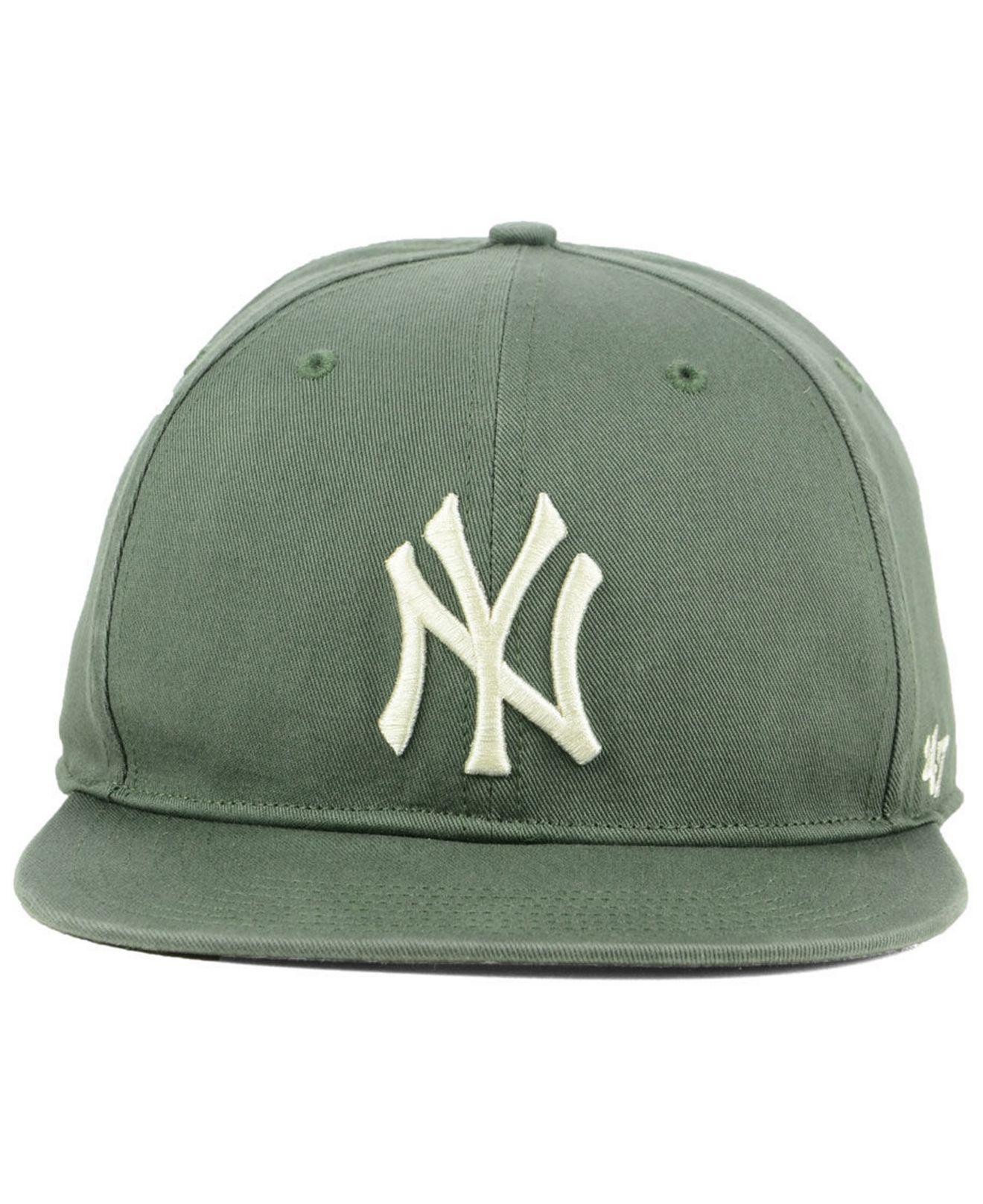 e6311e582c0 Lyst - 47 Brand New York Yankees Moss Snapback Cap in Green for Men