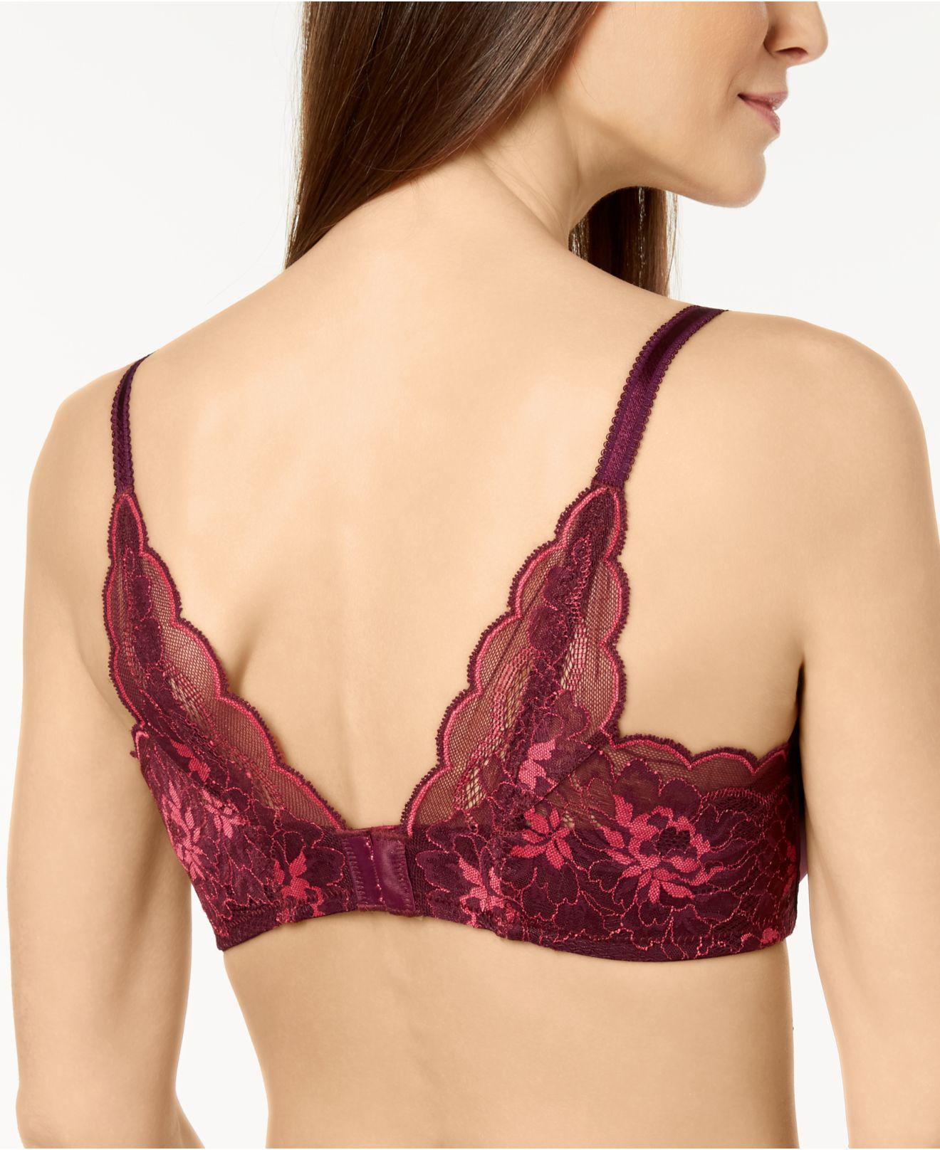 a350102fe7d35 Lyst - Wacoal Fire And Lace Contour Bra 853252 in Purple - Save 44%