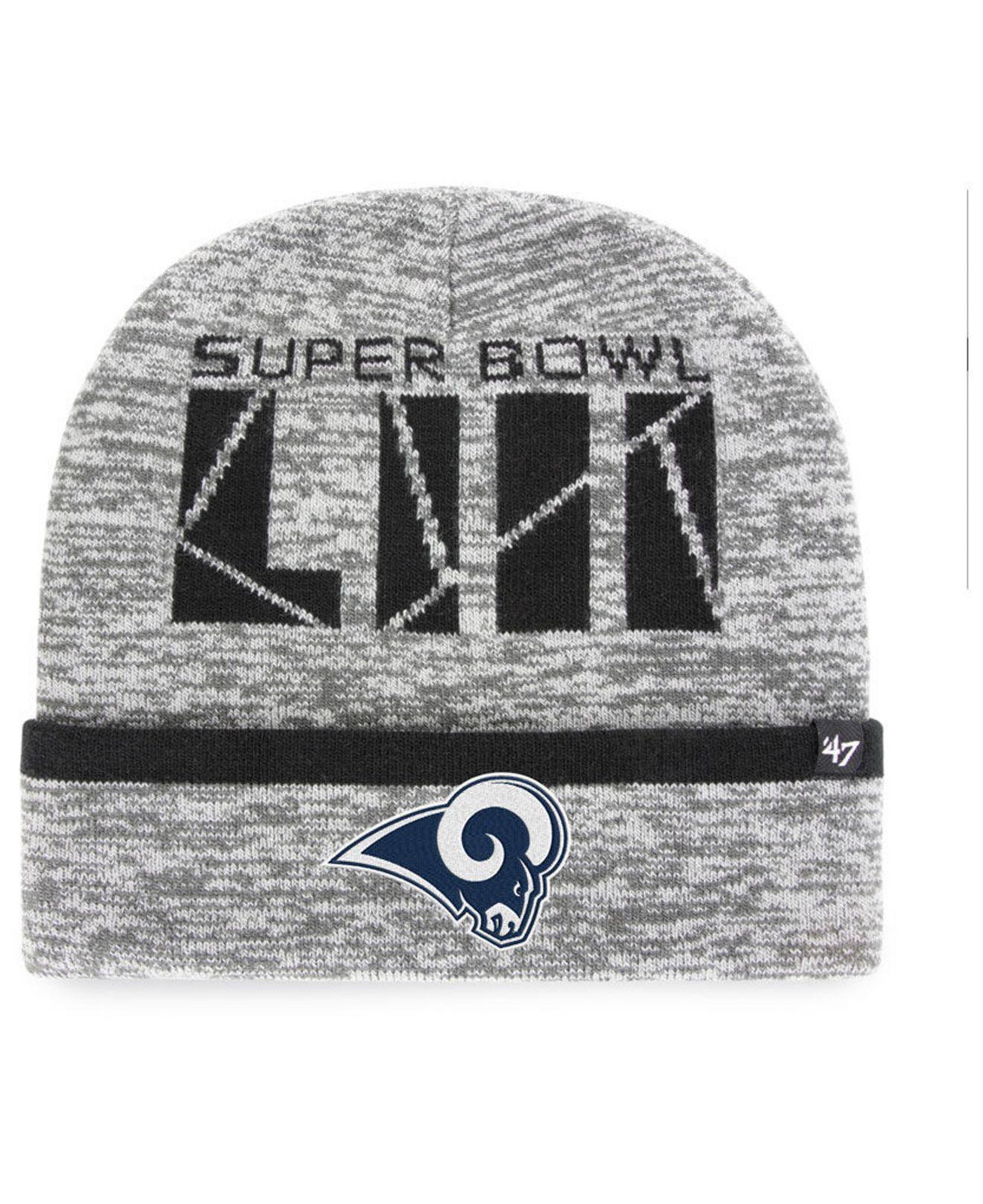 Lyst - 47 Brand Los Angeles Rams Super Bowl Liii Birch Cuff Knit Hat ... f1d50f2e7