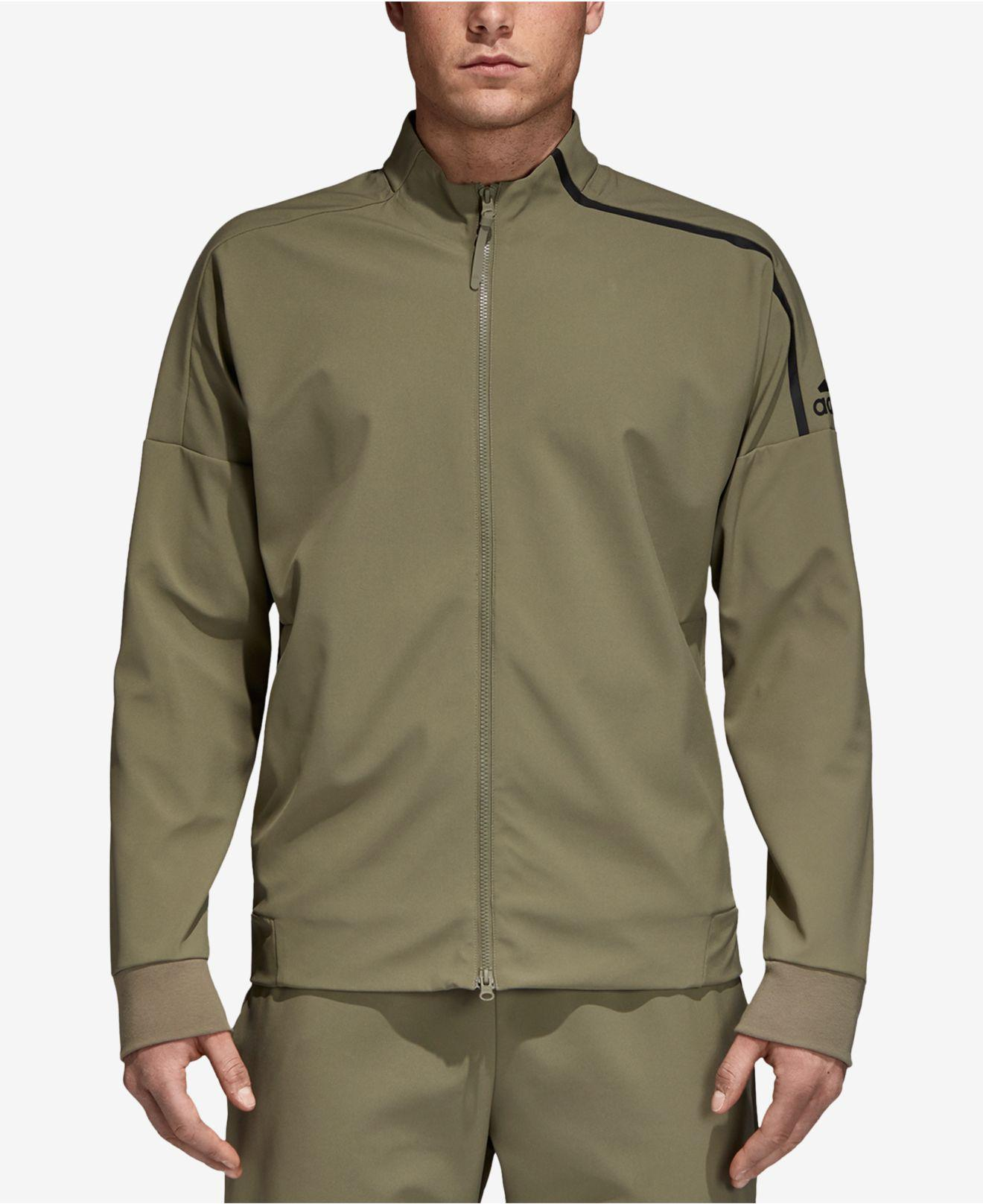 118f7aa871af Lyst Adidas Z N E Track Jacket In Green For Men. Adidas Solid Blackbird  Black White ...