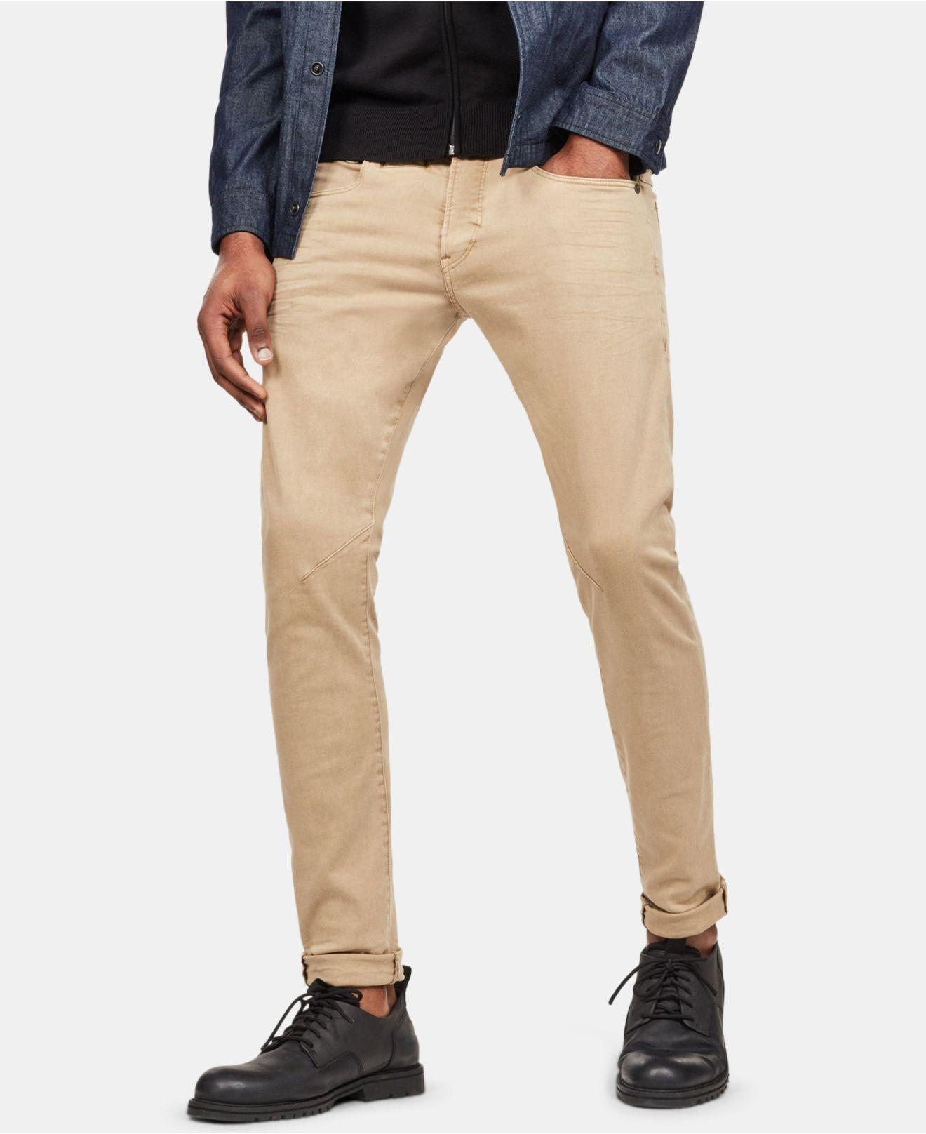 a5734a603c8 Lyst - G-Star RAW D-staq Skinny-fit Stretch Jeans in Natural for Men