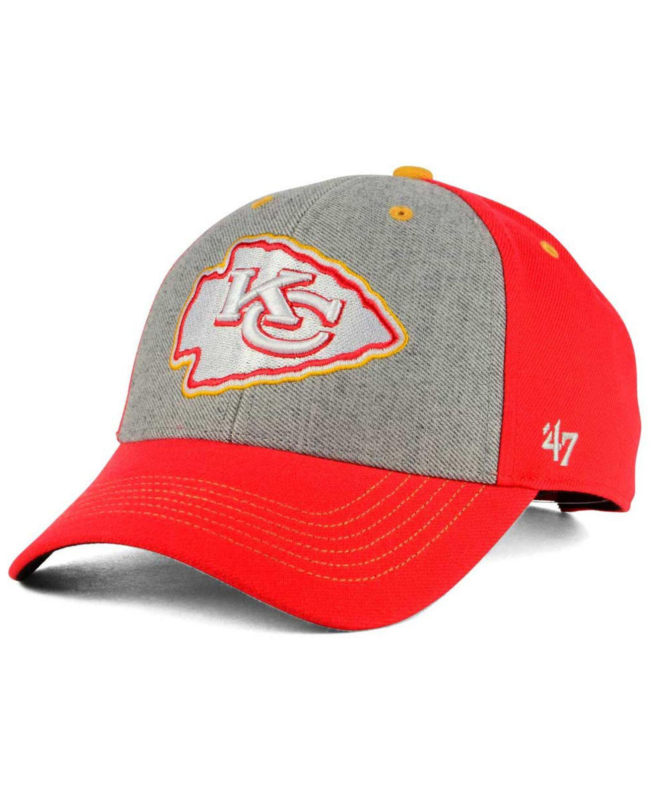 pretty nice 32744 737bf cheap lyst 47 brand kansas city chiefs formation mvp cap in red for men  28658 3262b