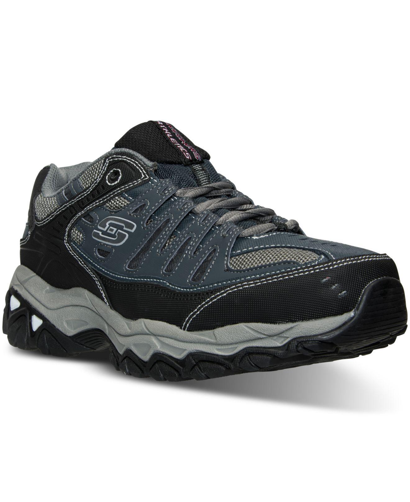 c5e097db1dd2 Skechers. Blue Men s After Burn - Memory Fit Wide Width Training Sneakers  ...