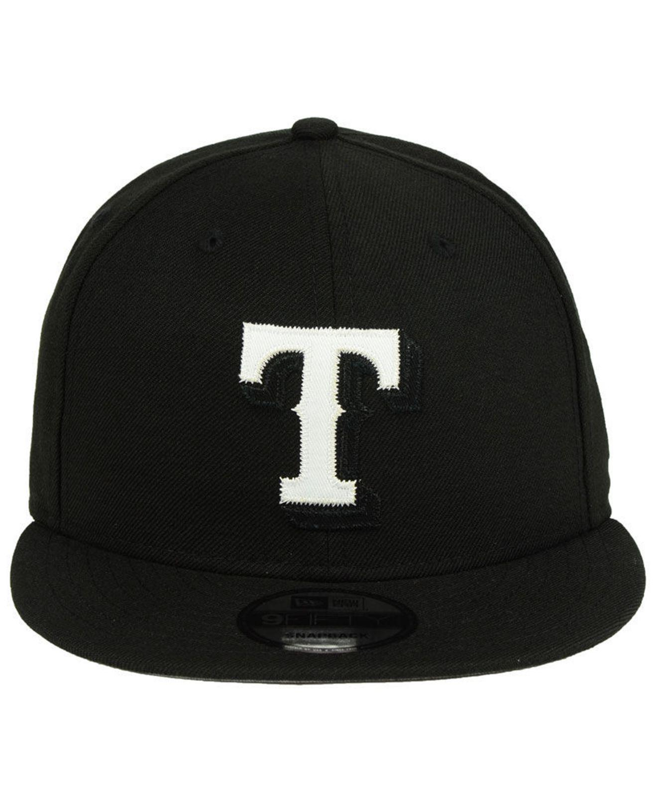 promo code f6d98 761ce reduced lyst ktz texas rangers jersey hook 9fifty snapback cap in black for  men 22c1c ea52c