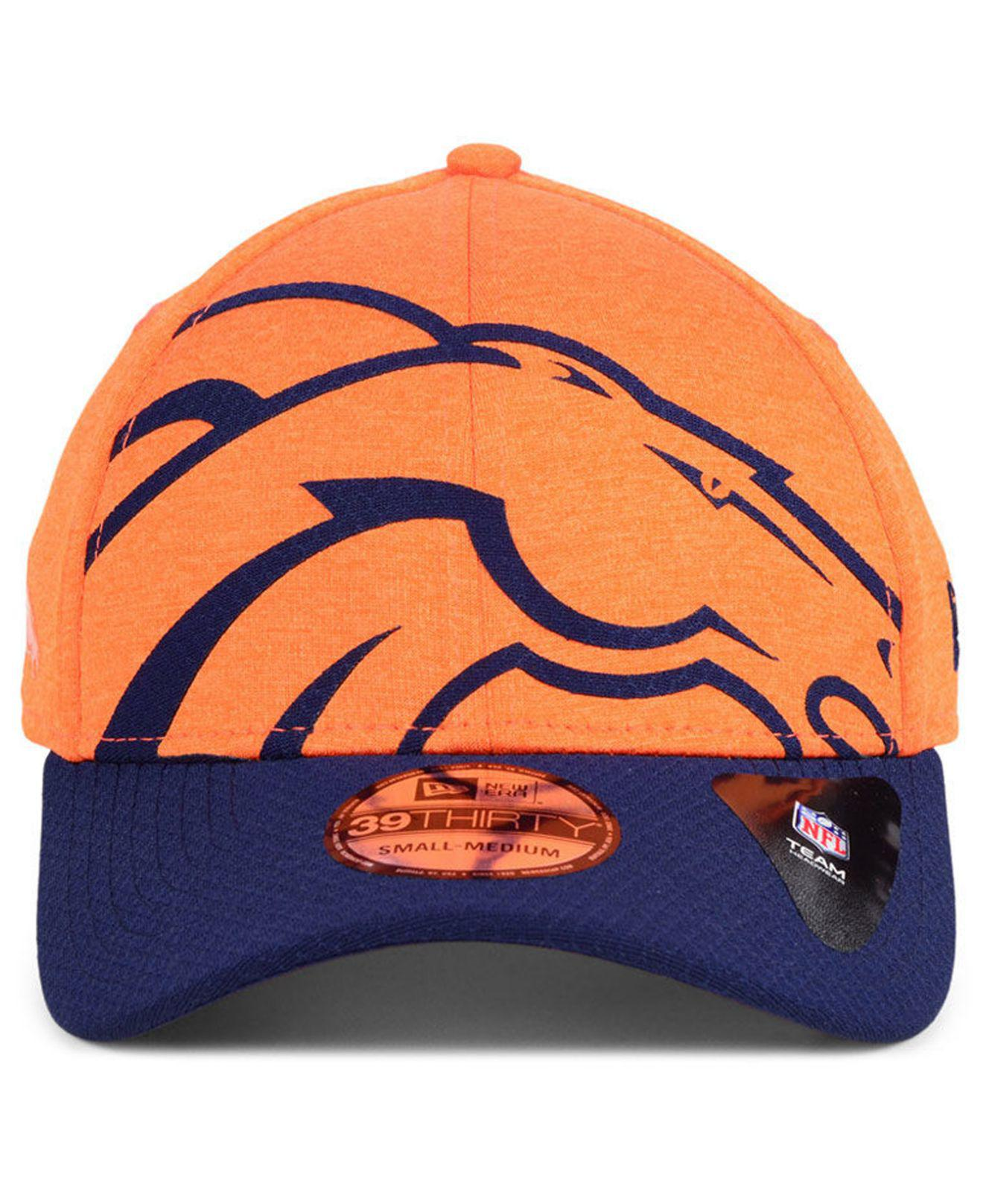 sale retailer f71ea 33a8d Lyst - KTZ Denver Broncos Oversized Laser Cut Logo 39thirty Cap in Orange  for Men
