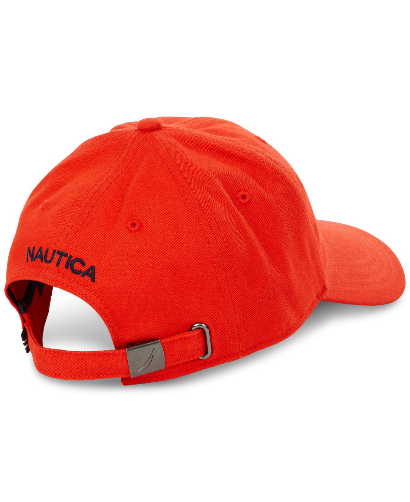 5a29c2a193c Lyst - Nautica J Class Embroidered Hat in Red for Men
