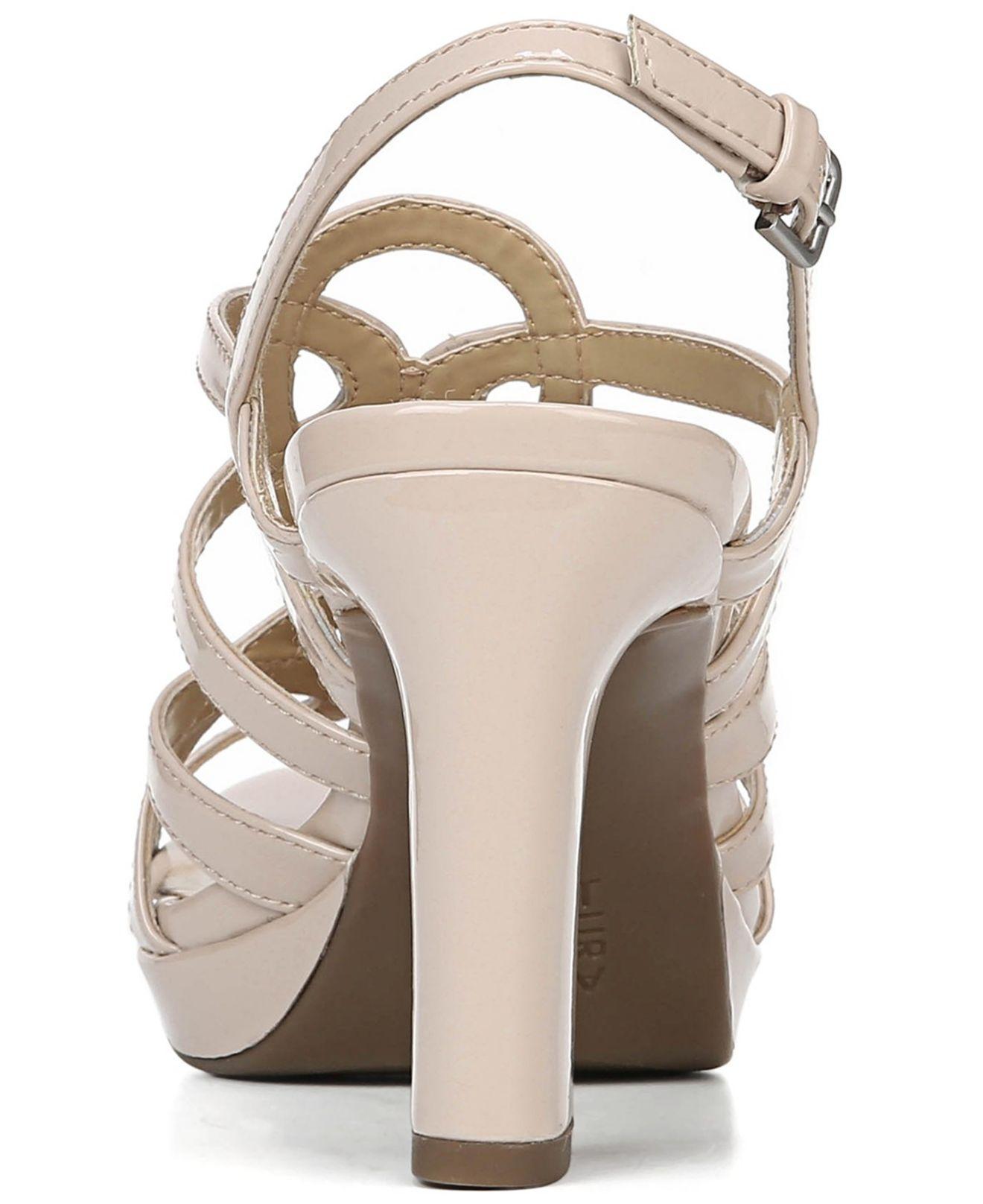 86b7fadaa8 Naturalizer - Purple Cameron Ankle Strap Sandals - Lyst. View fullscreen