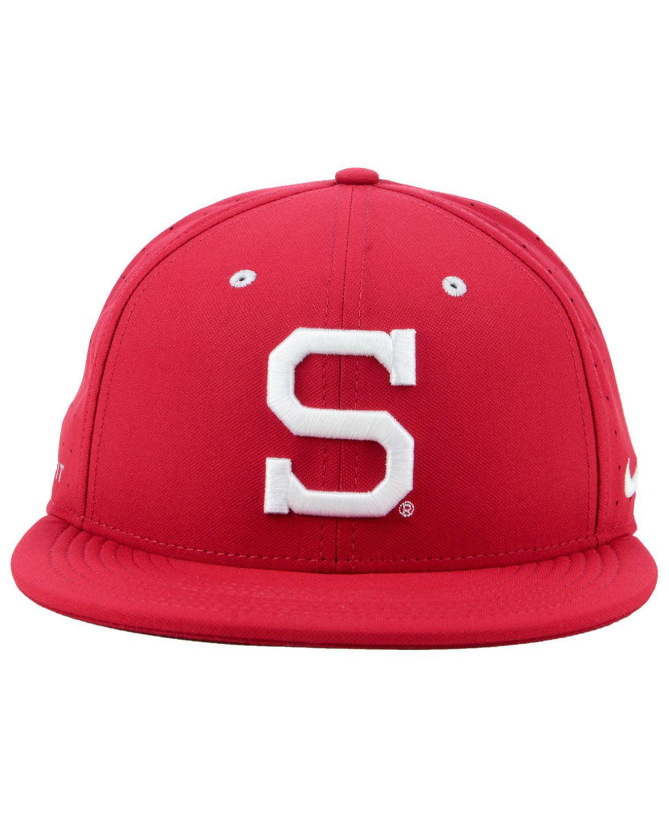 2ed5de7ecb4 ... get lyst nike stanford cardinal aerobill true fitted baseball cap in  red for men 1b294 f3484
