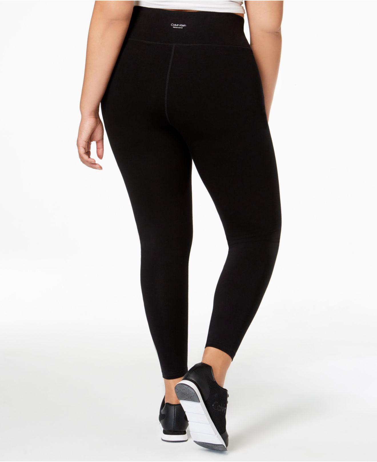 cd770530f1 Calvin Klein Performance Plus Size Logo High-rise Leggings in Black ...