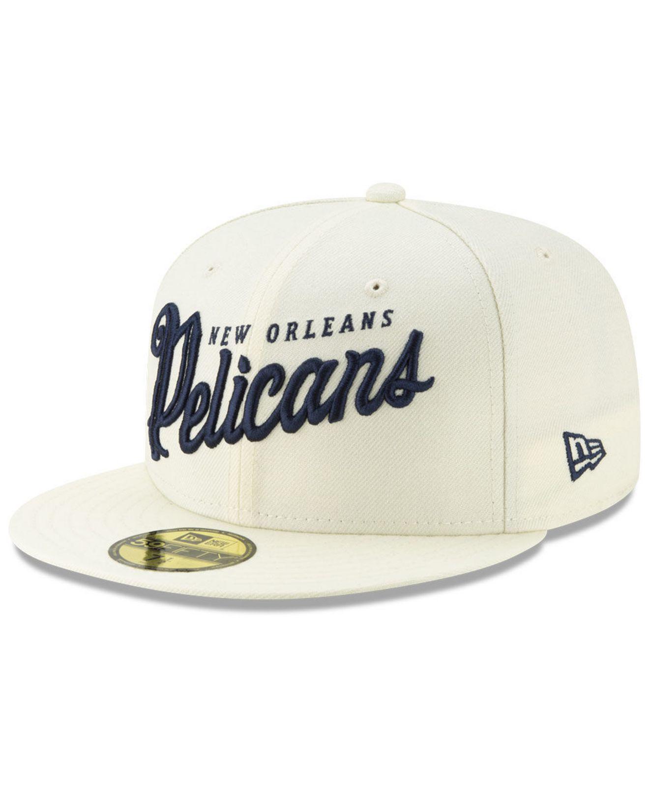 best website a1ccf bd76e KTZ - Natural New Orleans Pelicans Jersey Script 59fifty-fitted Cap for Men  - Lyst. View fullscreen