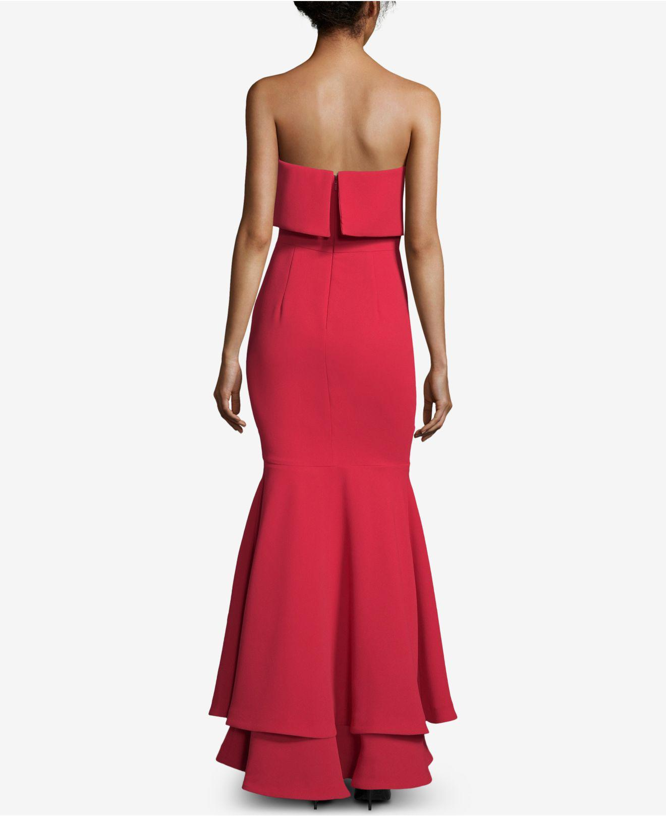 dc597bc2 Lyst - Xscape Popover Tiered-hem Evening Gown in Red