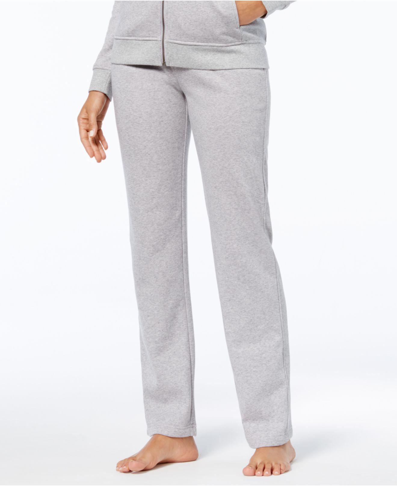 Lyst - UGG Penny Solid Fleece Pajama Pants in Gray 27ccd2309
