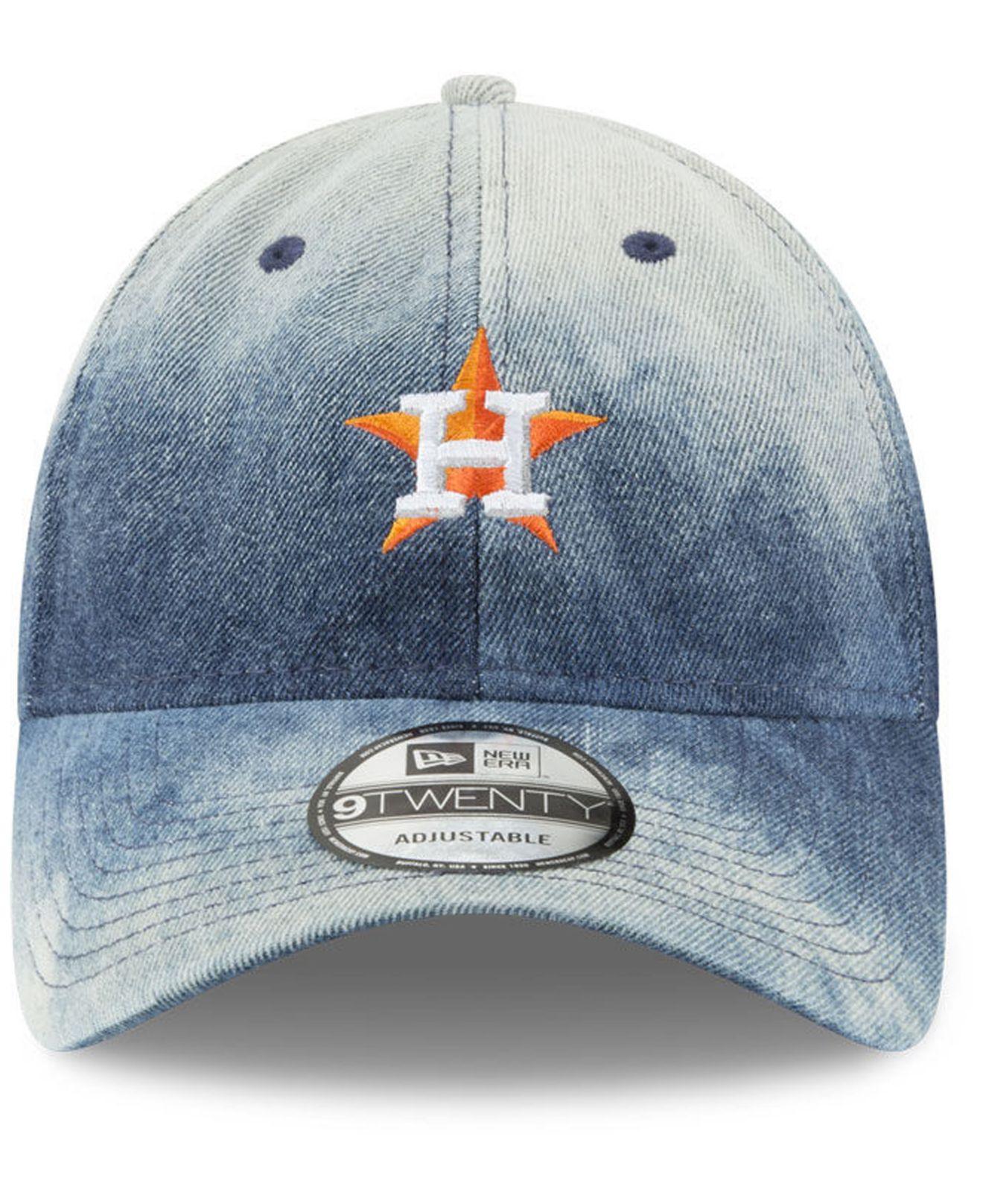 best loved 70749 0a718 ... wholesale lyst ktz houston astros denim wash out 9twenty cap in blue  for men a4c37 617cb