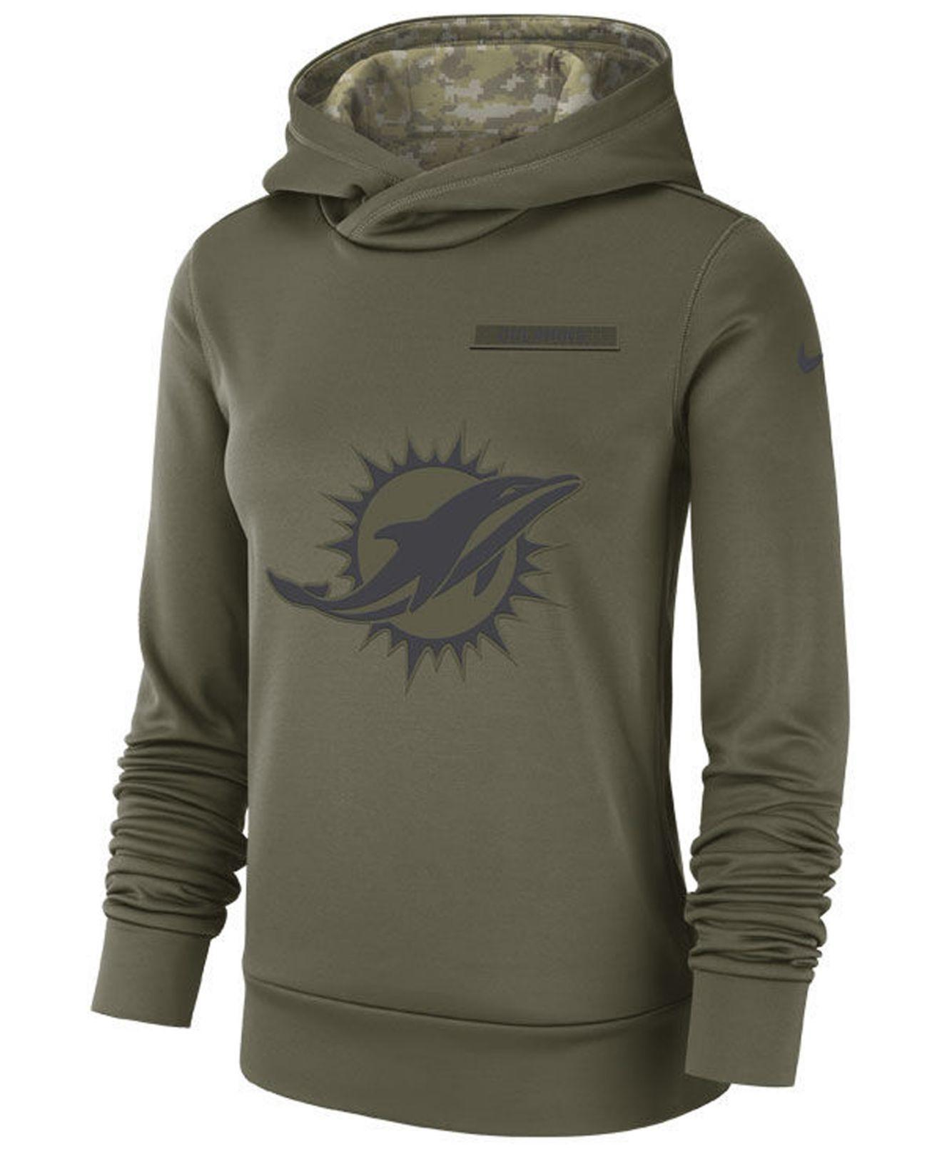 new style c56d3 c65c8 Lyst - Nike Miami Dolphins Salute To Service Therma Hoodie ...