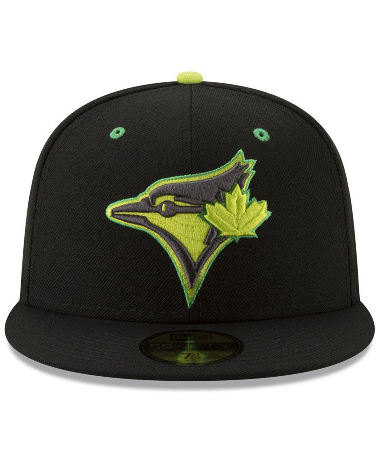best website 20413 936ac Lyst - KTZ Toronto Blue Jays Night Moves 59fifty Fitted Cap in Black for Men