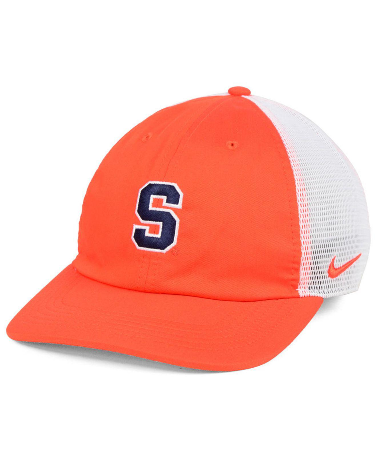 sneakers for cheap f9693 07074 cheap legacy syracuse orange hat 9d884 ef2e6  closeout nike. mens syracuse  orange h86 trucker snapback cap 15b4d d7e03