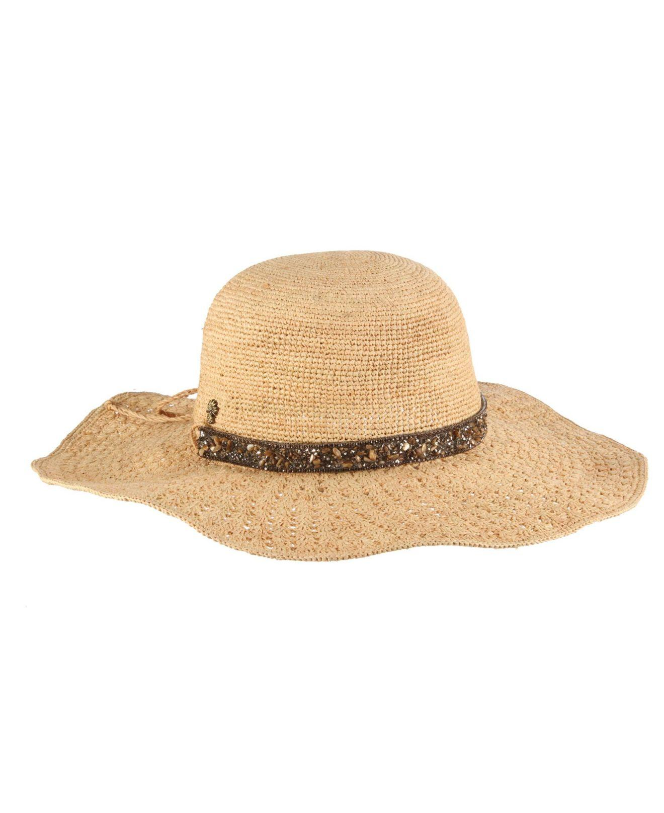 f05c5e9db Tommy Bahama Raffia Floppy Hat With Stone Band in Natural - Lyst