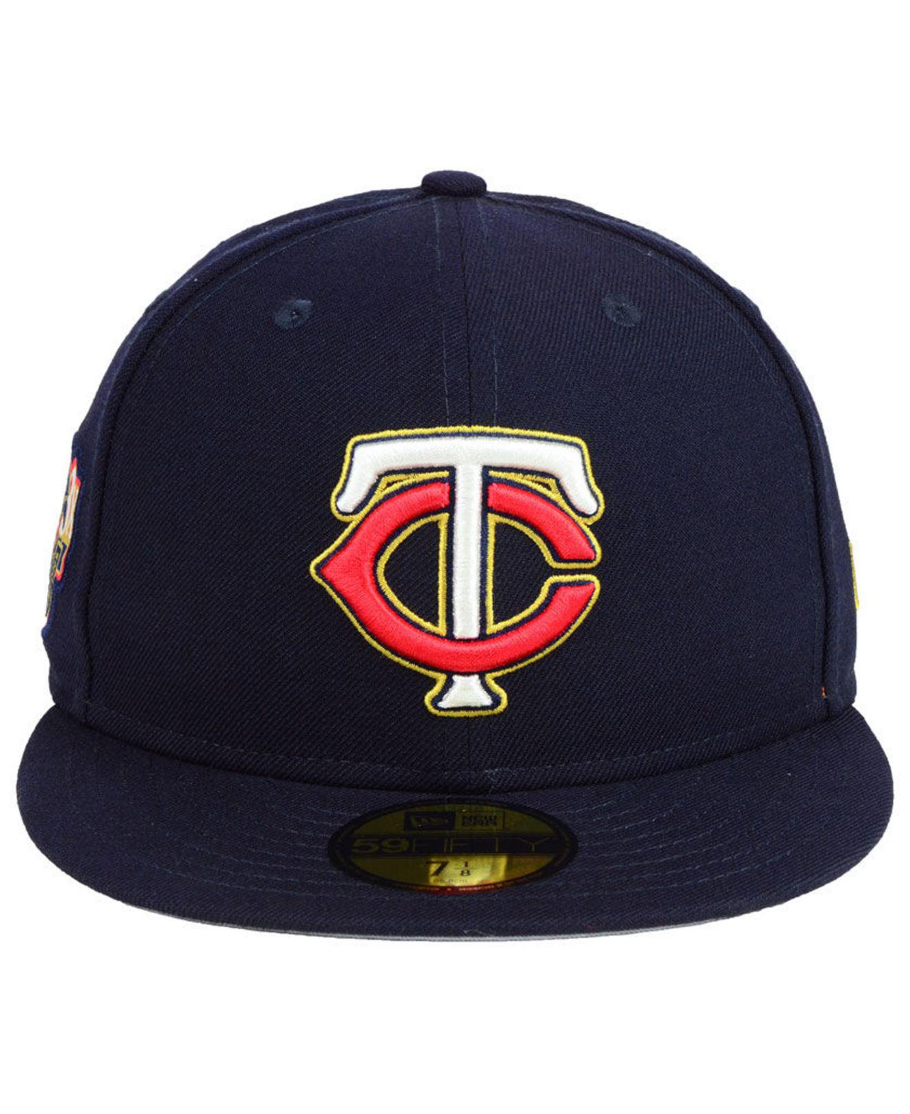 promo code 665cd 80102 Lyst - KTZ Minnesota Twins Trophy Patch 59fifty Fitted Cap in Blue for Men