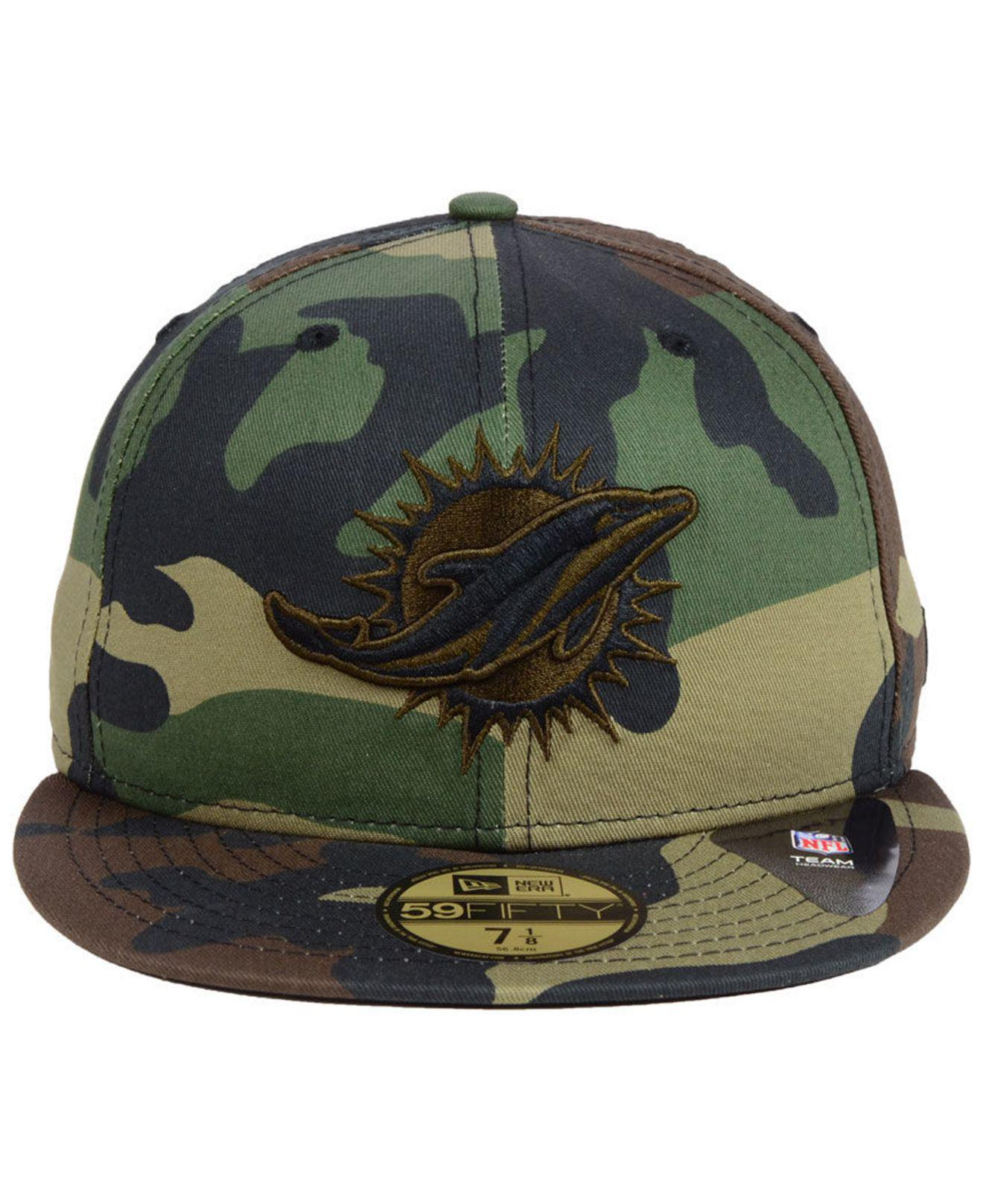 Lyst - KTZ Miami Dolphins Woodland Prism Pack 59fifty-fitted Cap in Green  for Men 2d870d14b