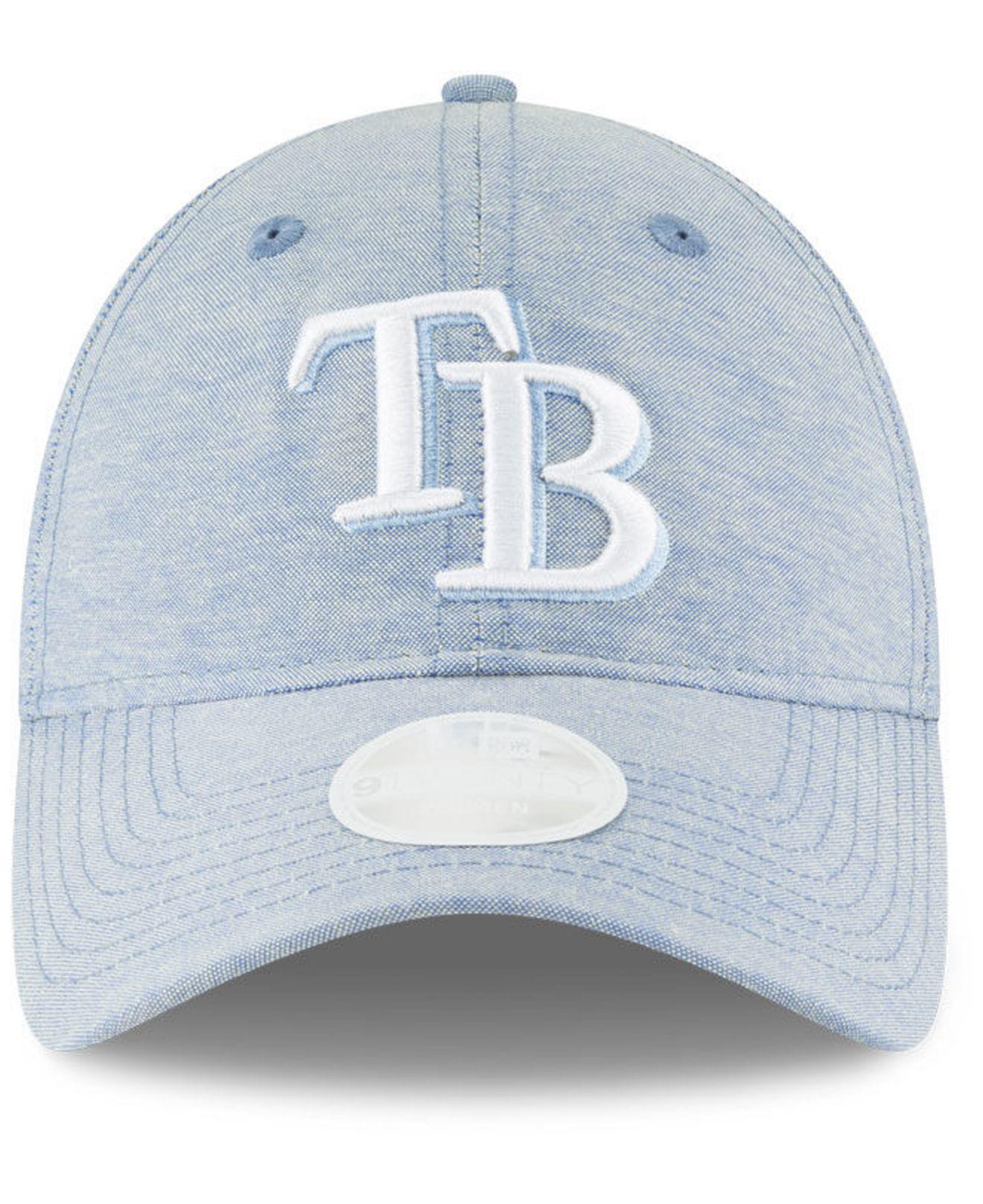 brand new 89d1d 7be73 ... coupon for lyst ktz tampa bay rays team linen 9twenty strapback cap in  blue for men