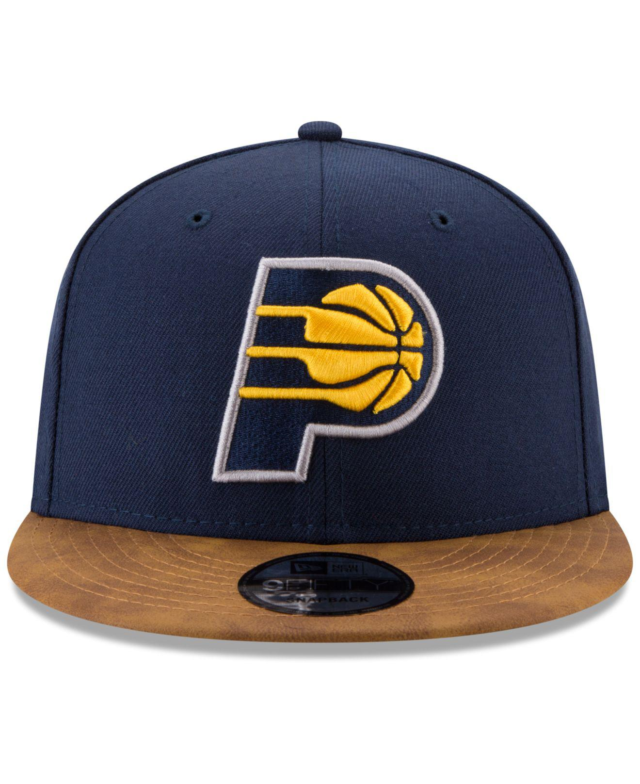 new styles df633 277a1 ... top quality lyst ktz indiana pacers team butter 59fifty snapback cap in  blue for men a602c
