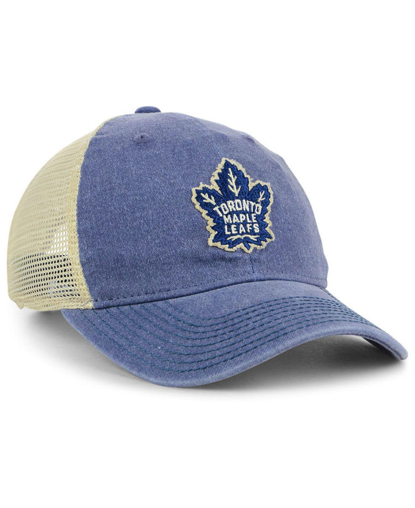 best service 463e4 fef1e ... inexpensive adidas blue toronto maple leafs sun bleached slouch cap for men  lyst. view fullscreen