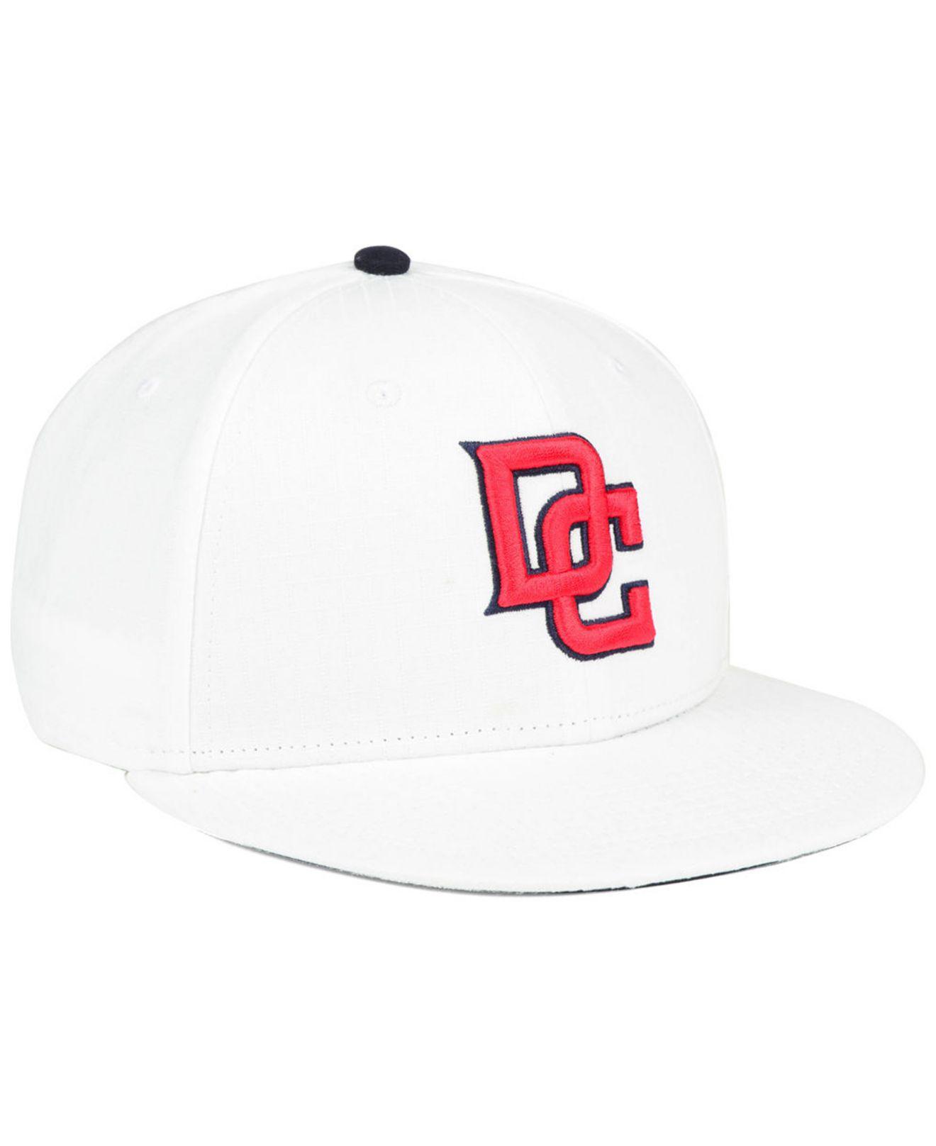 buy popular a592b 21488 Nike - Washington Nationals White Ripstop Snapback Cap for Men - Lyst. View  fullscreen