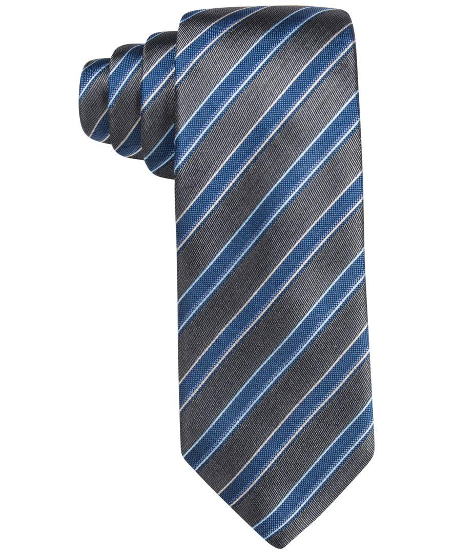 vince camuto s tessa stripe tie in blue for lyst