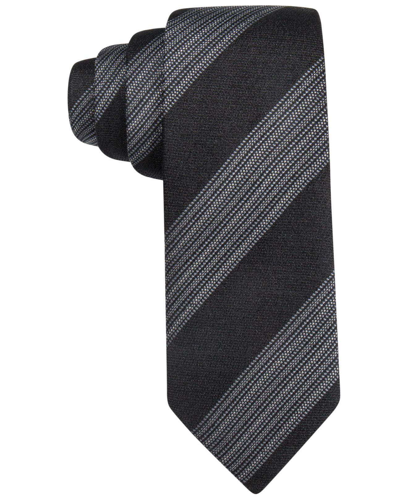 vince camuto s soderni stripe tie in black for lyst