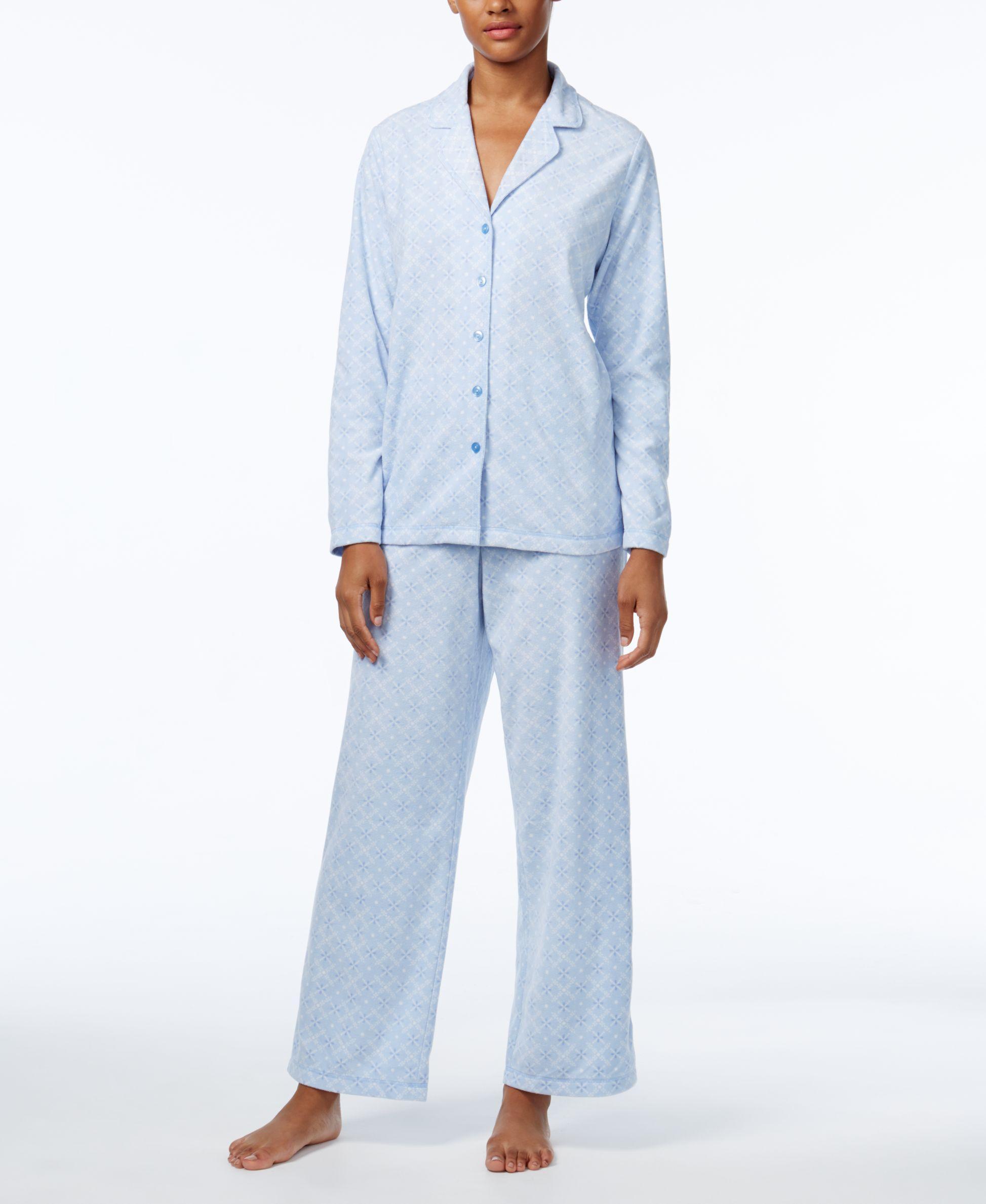 e06cc5c329 Lyst - Charter club Petite Fleece Pajama Set in Blue
