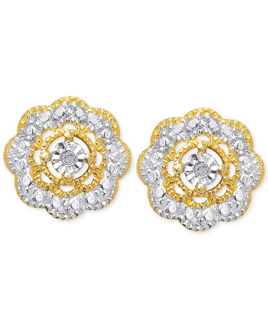 Macy's Diamond Accent Flower Stud Earrings In 18k Gold. Ocean Diamond. Guys Wedding Rings. Eds Bracelet. Solid Bangle. 14 Karat Gold Band. Handcrafted Watches. Large Round Stud Earrings. Garnet Stud Earrings