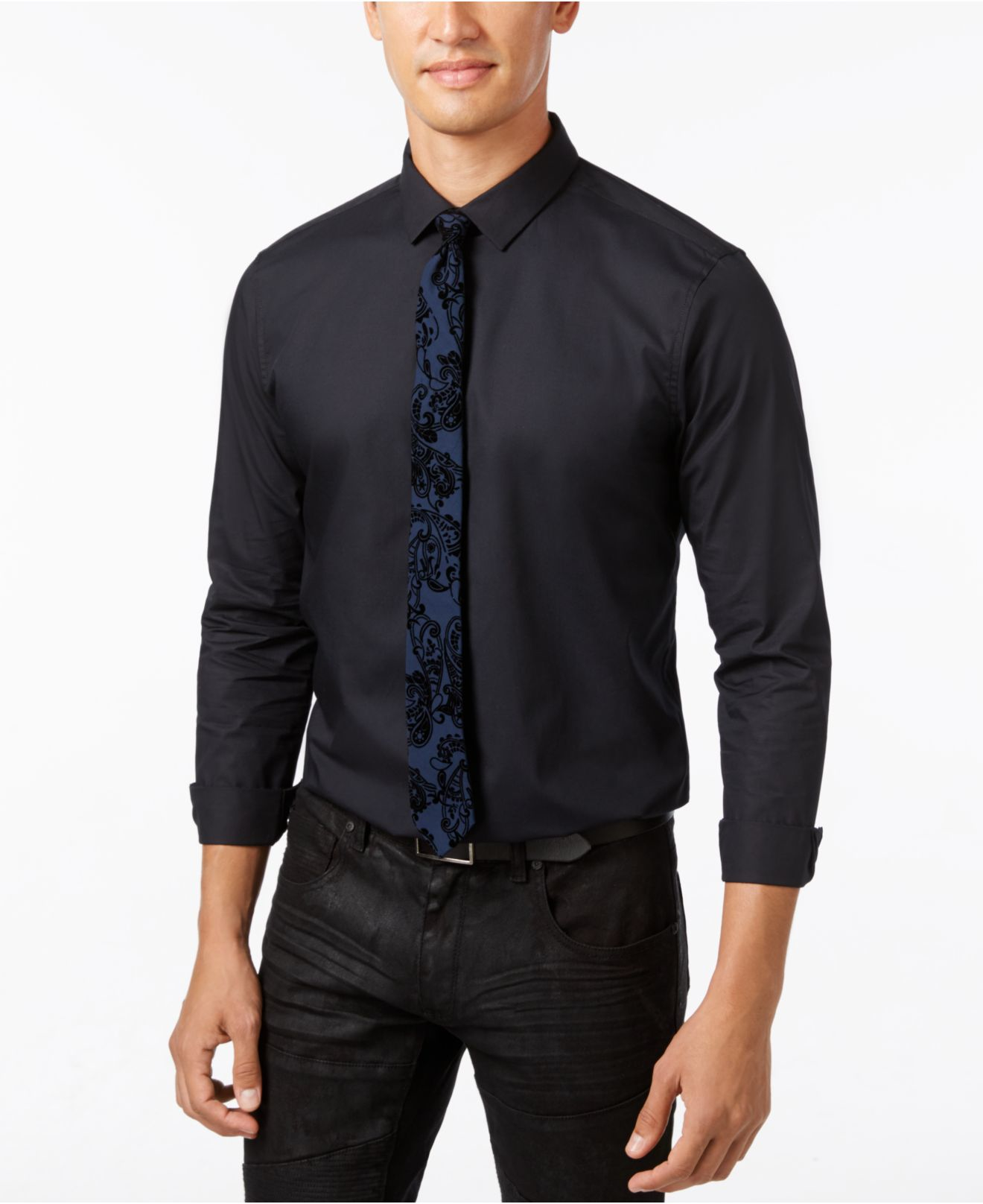 Lyst inc international concepts men 39 s paisley shirt and for Shirt and tie for men