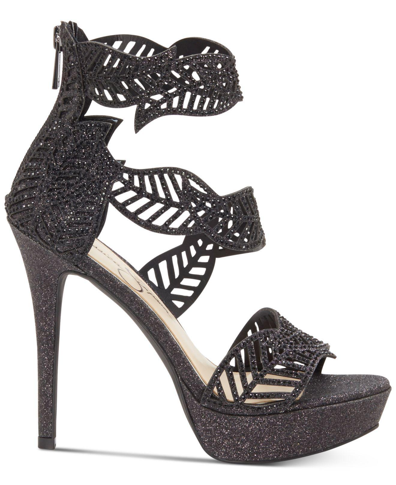 947af19bdbac Lyst - Jessica Simpson Bonilynn Platform Dress Sandals in Black