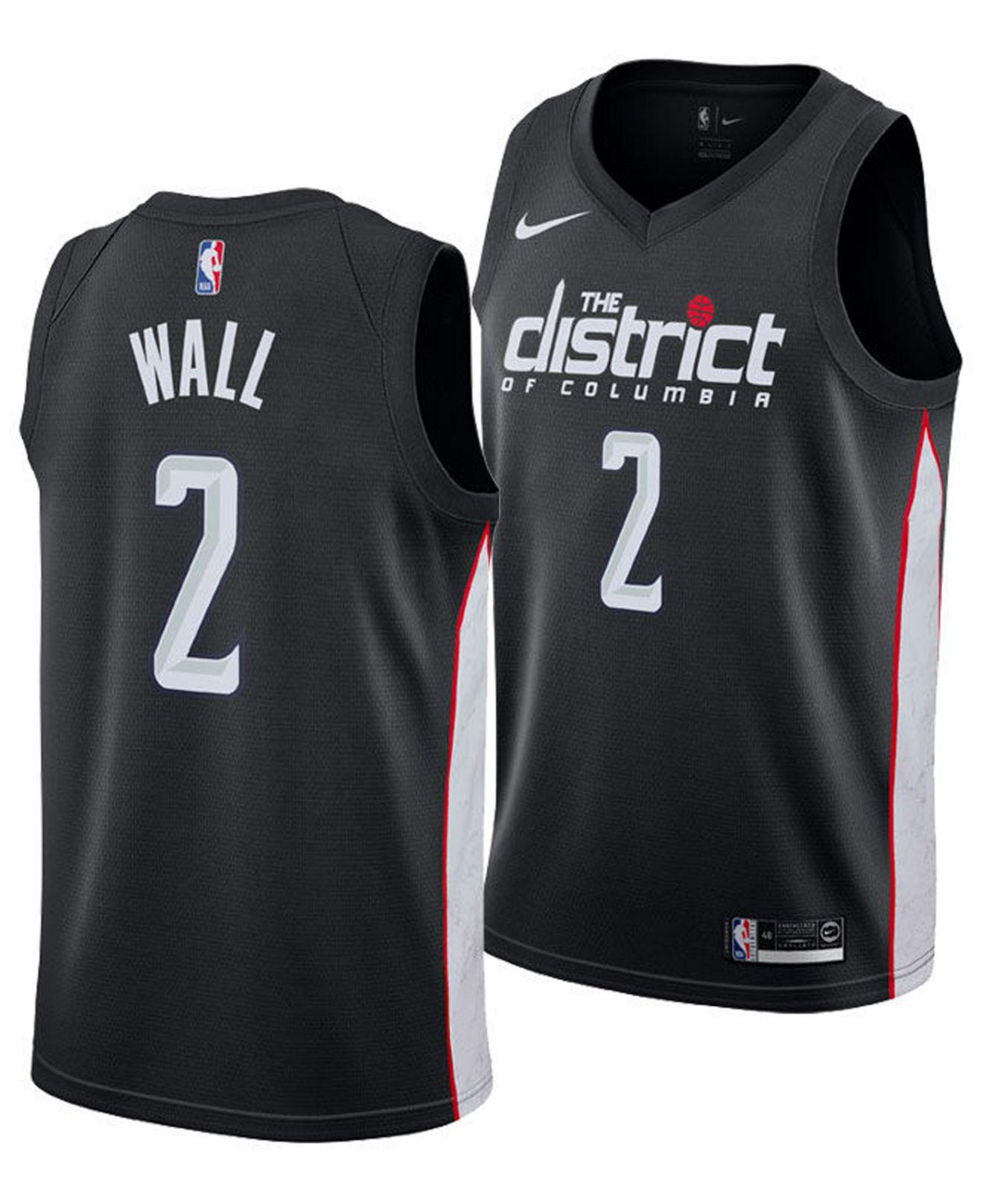 Nike. Men s Black John Wall City Edition Swingman (washington Wizards) ... 32570adb3
