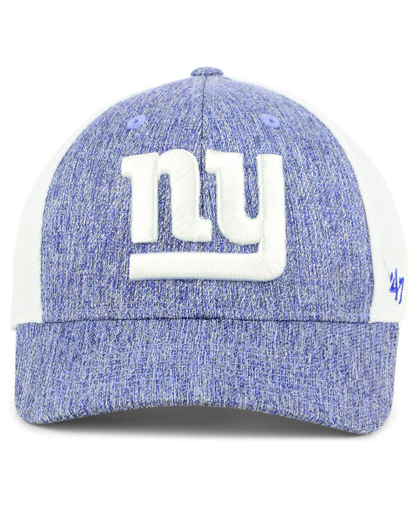 san francisco aa691 2d1dd Lyst - 47 Brand New York Giants Hazy Flex Contender Stretch Fitted Cap in  Blue for Men