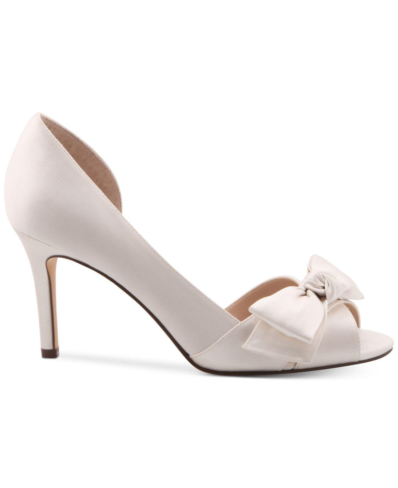 c9b6c9ecf5a51 Nina Forbes 2 Bow Peep-toe D'orsay Evening Pumps in White - Lyst