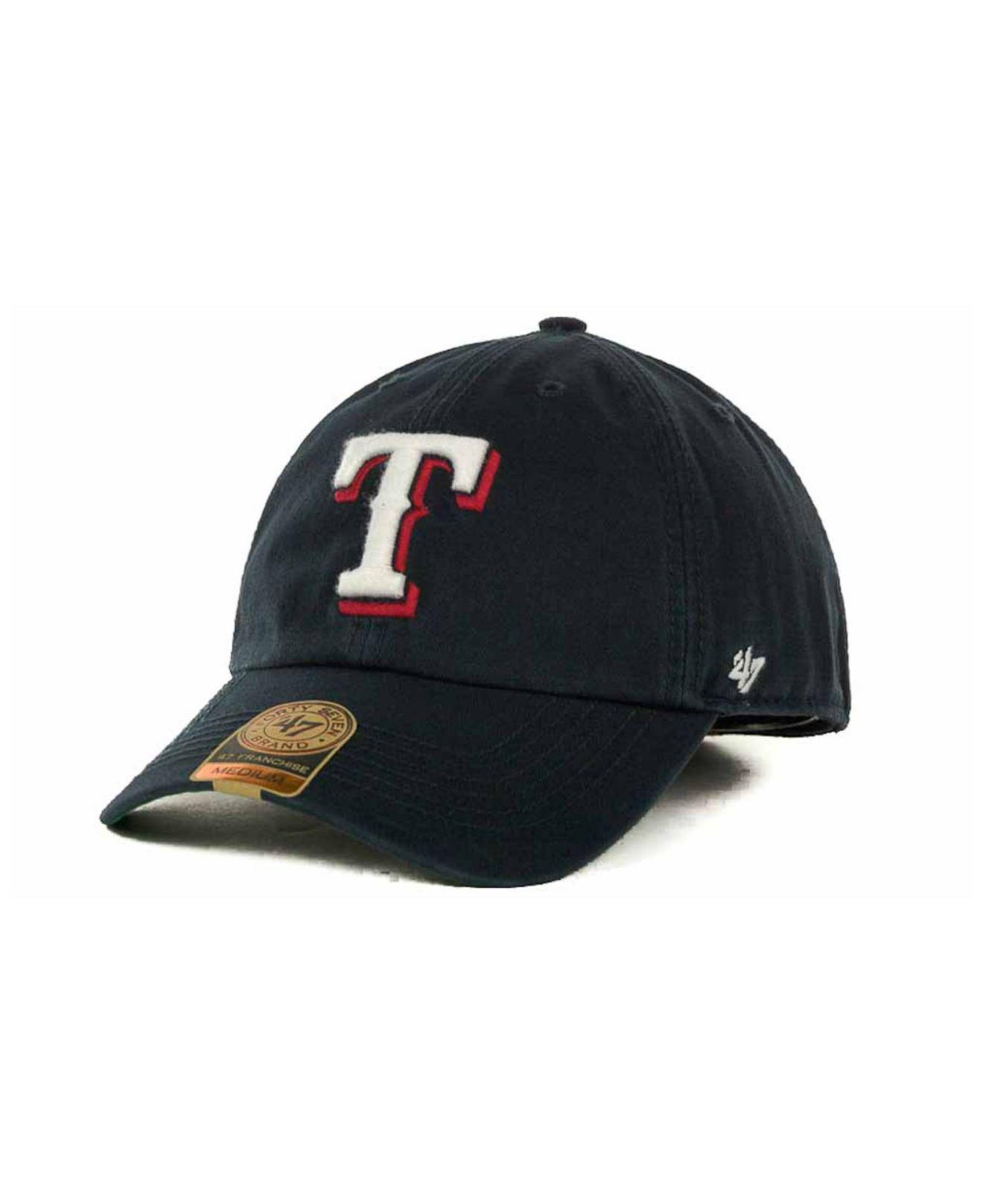 a2d6b6221dc 82d9b 0d163  coupon code for lyst 47 brand texas rangers mlb 47 franchise  cap in blue for men