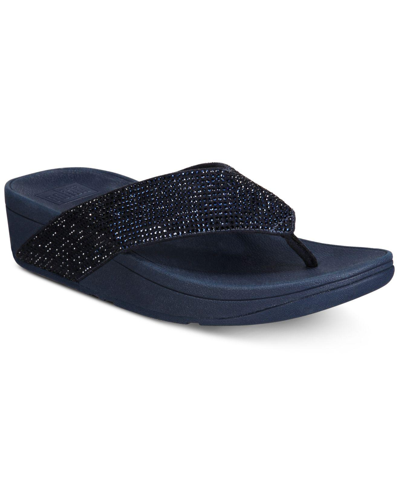 393970ad6ca1d Lyst - Fitflop Ritzy Toe-thong Sandals in Blue