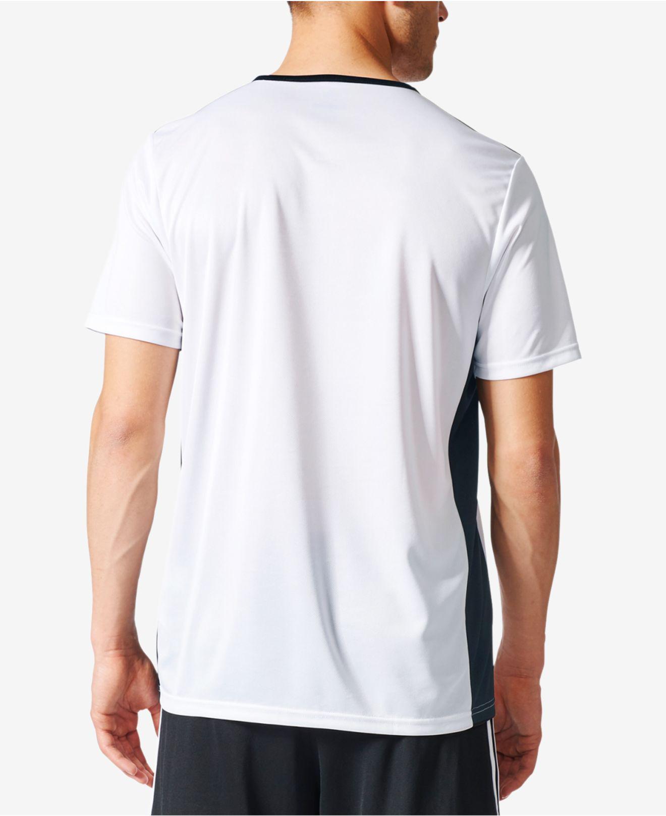 ec1649b81 adidas Men s Entrada Climalite® Soccer Shirt in White for Men - Lyst
