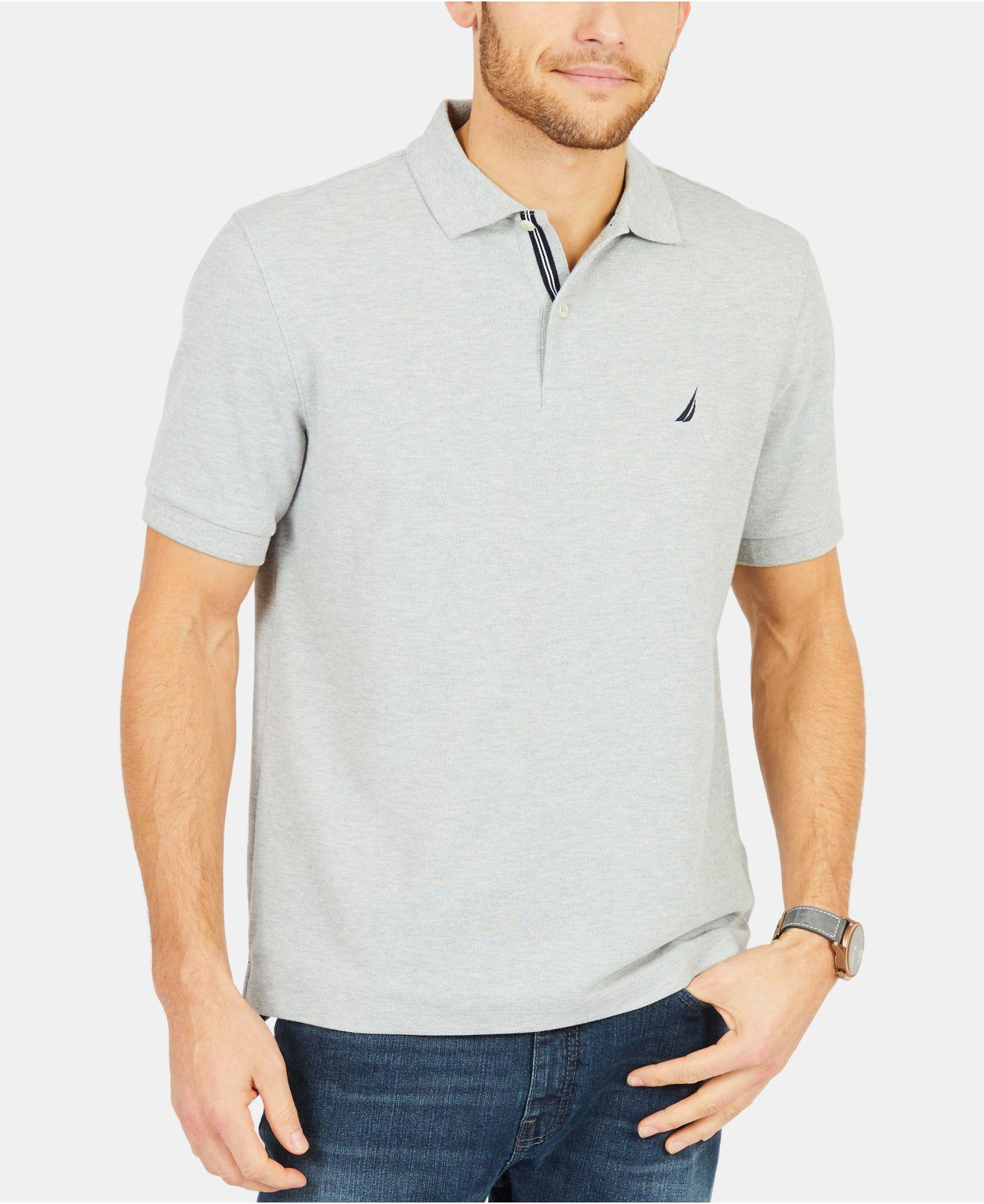 Lyst Nautica Classic Fit Performance Deck Polo Shirt In Gray For