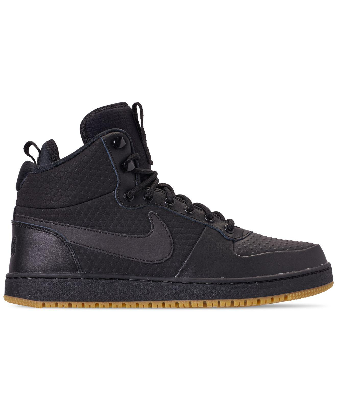 689a0d2bd39 Lyst - Nike Ebernon Mid Winter Casual Sneakers From Finish Line in Black  for Men - Save 26%