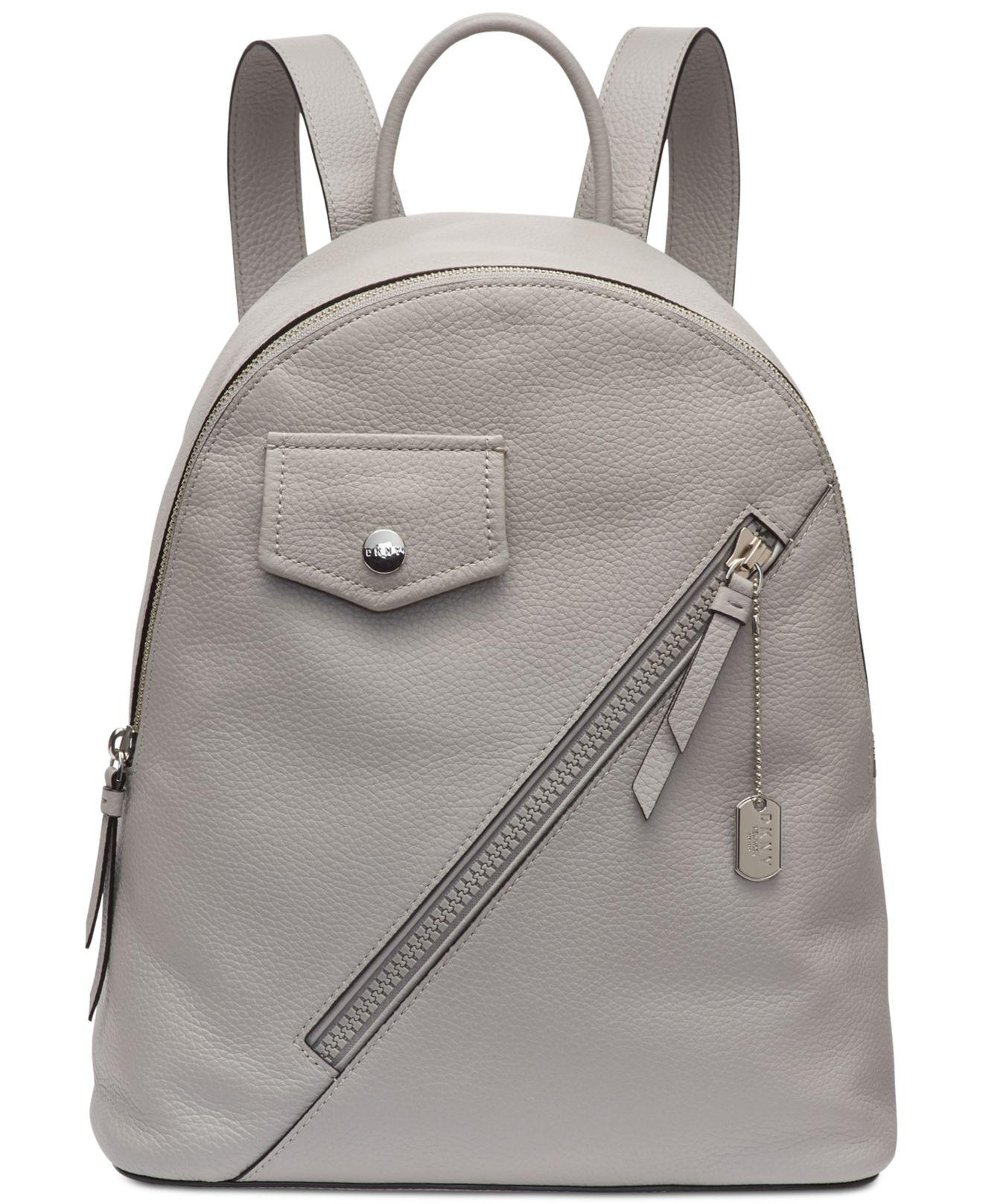 a5894ed50072 DKNY. Men s Gray Jagger Leather Backpack ...