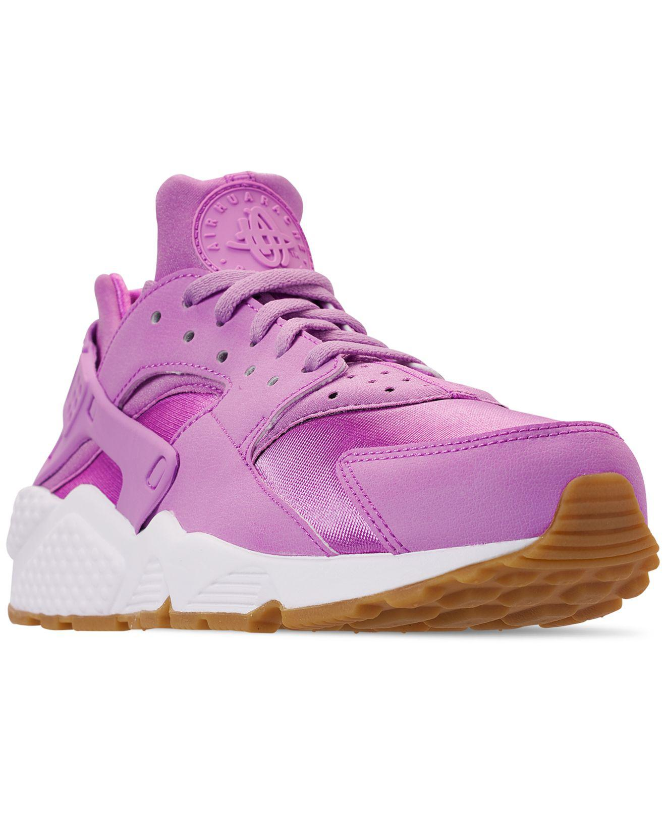 dbeab8de9eef Lyst - Nike Air Huarache Run Running Sneakers From Finish Line in Purple