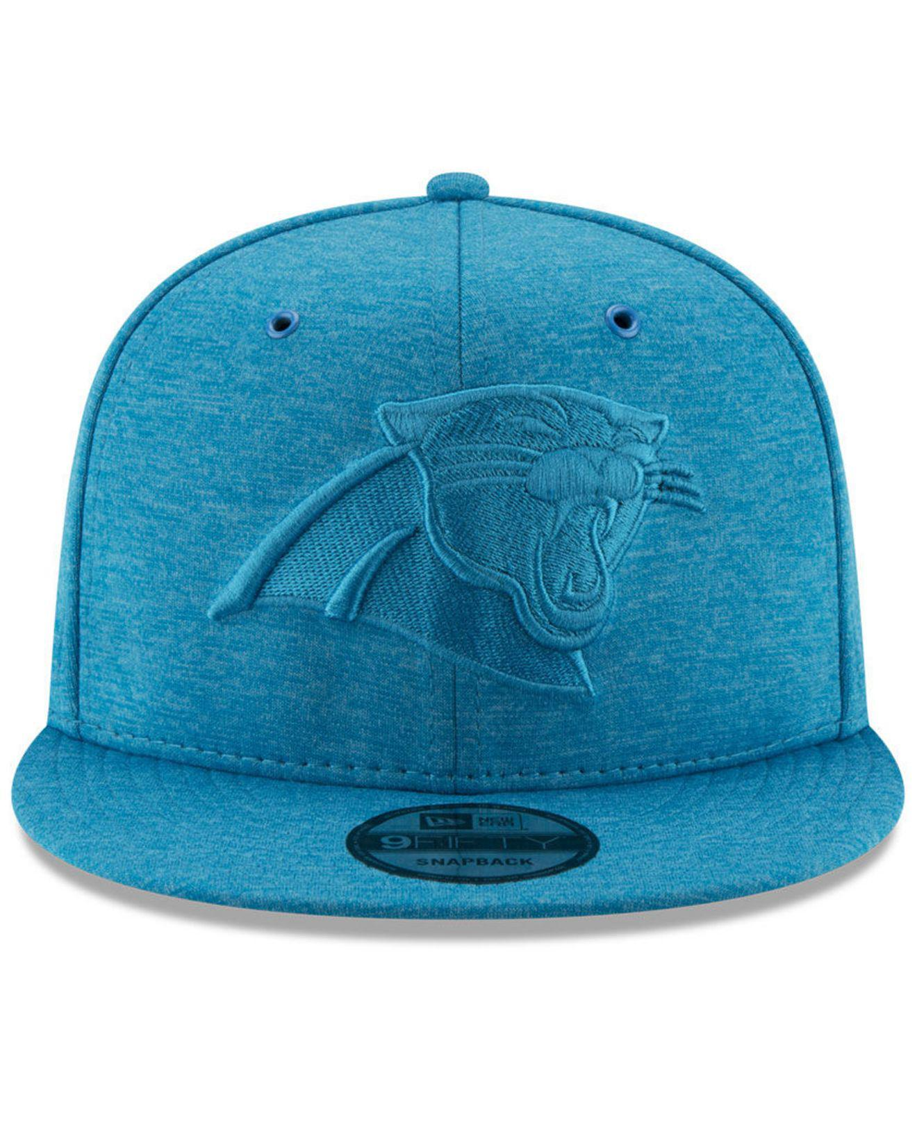 b0466ff3b1a Lyst - Ktz Carolina Panthers Tonal Heat 9fifty Snapback Cap in Blue for Men