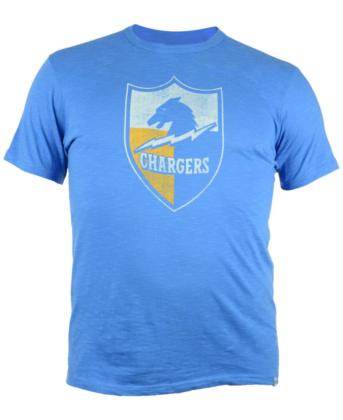 47 Brand Men S San Diego Chargers Retro Logo Scrum T Shirt