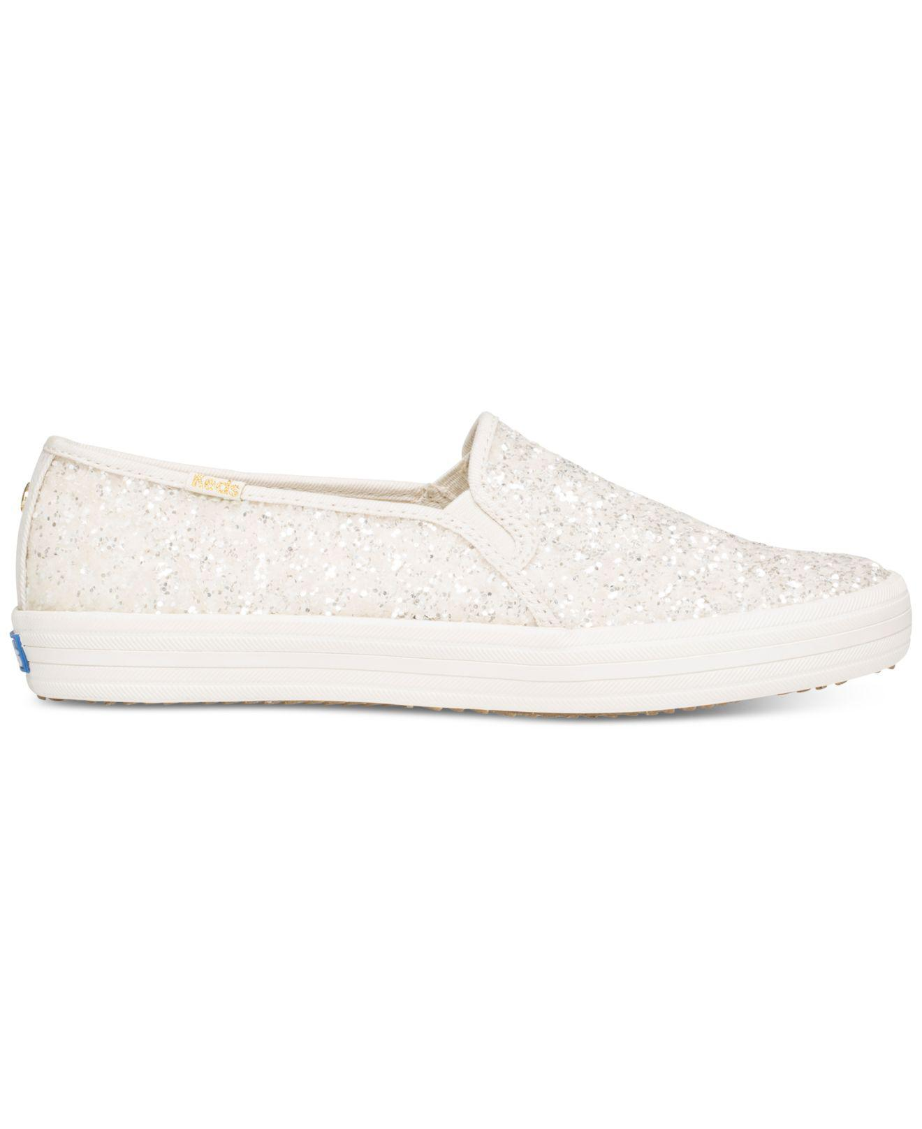 d92fdefb3234 Lyst - Kate Spade Keds For Double Decker Glitter Sneakers