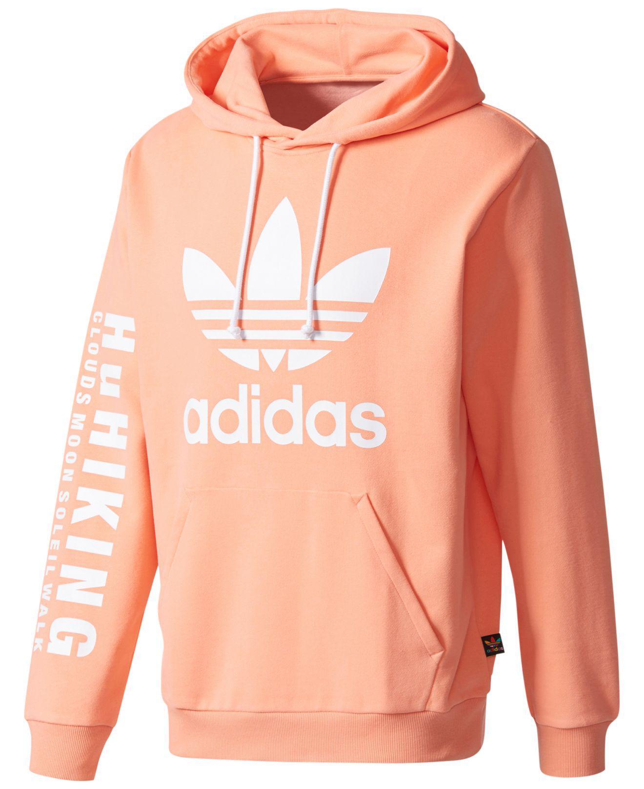333d1b45fdc8 Lyst - adidas Pharrell Williams Hu Hiking Logo Hoodie in Pink for Men