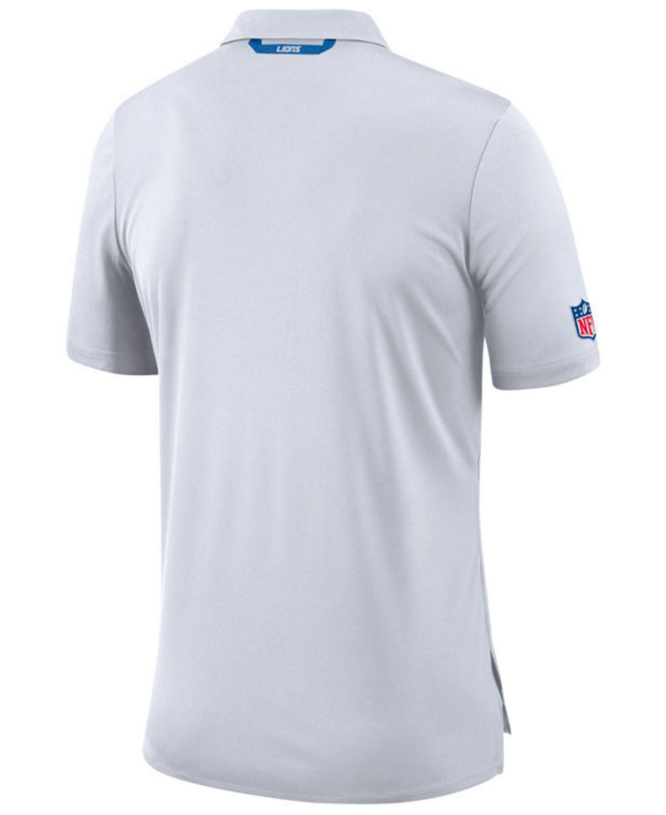 79a7ffc2 Lyst - Nike Detroit Lions Early Season Polo in White for Men